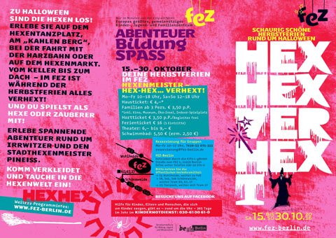 HEX HEX VERHEXT - Herbstferien 2016 im FEZ-Berlin